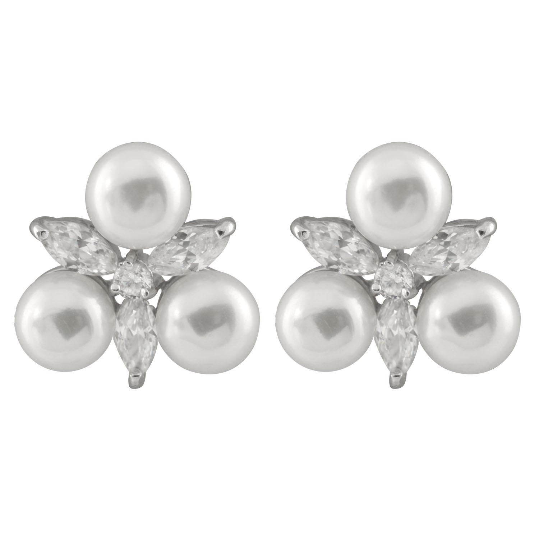 New silver earrings